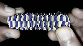 how to make an origami paper slinky chain !
