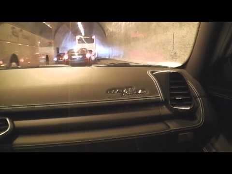Ferrari 458 Italia Brutal Sound, Tunnel Sound, Tunnel Blasting Start Up Budapest