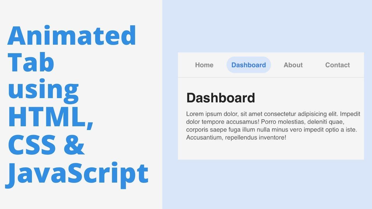 Animated Tabs using HTML, CSS & JavaScript