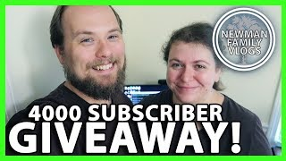 4,000 SUBSCRIBER GIVEAWAY ANNOUNCEMENT!  [CLOSED]