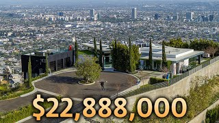 Touring a Los Angeles Modern Mansion Overlooking the Entire City!