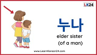 Learn Family Members In Korean | Korean Vocabulary