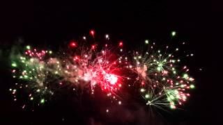 Запуск светодиодных шаров + фейерверк