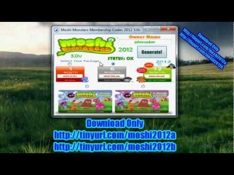 Free Moshi Monsters Membership Codes 2012 3.0v New Secret Code