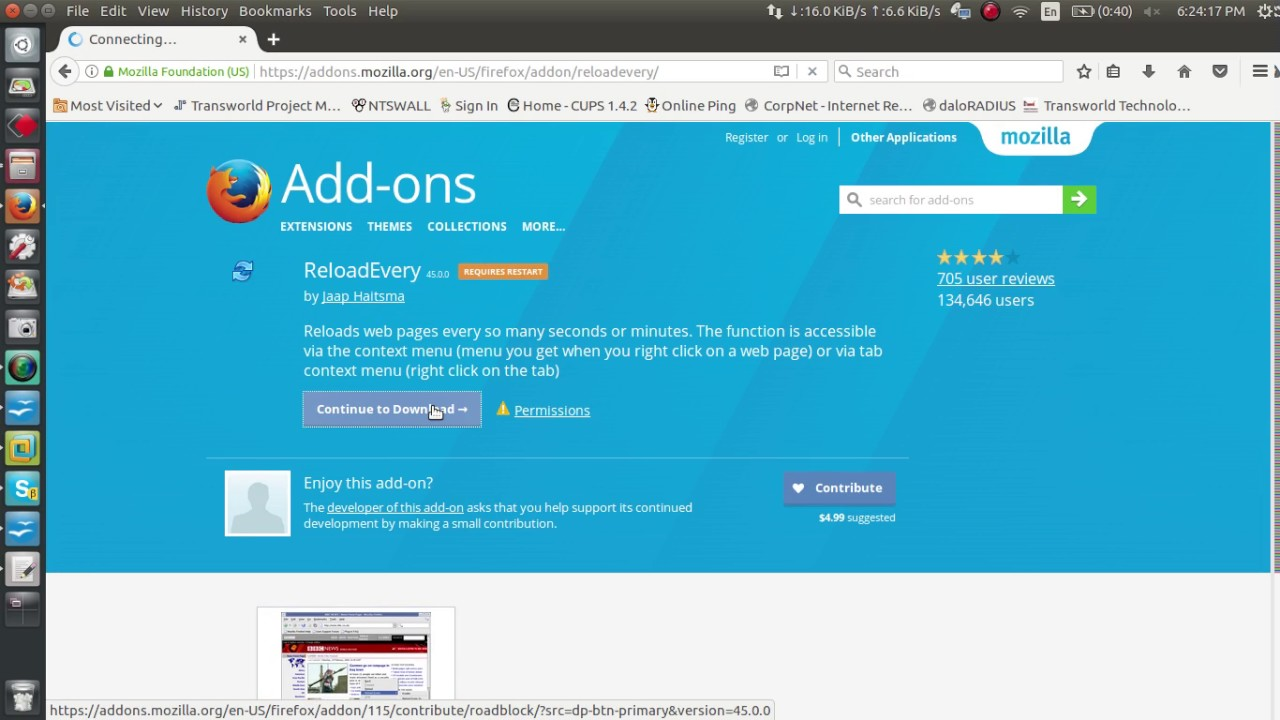 How auto reload web page mozilla firefox