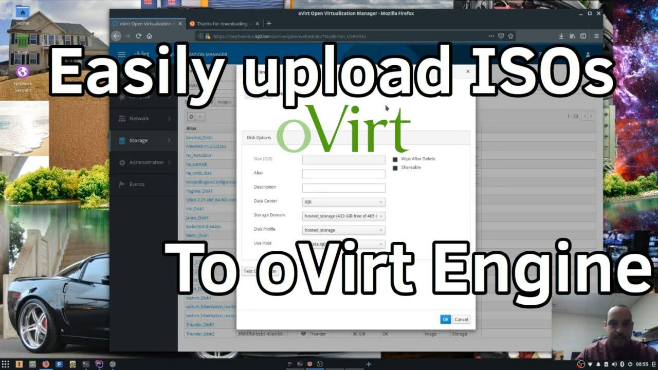 Easily Upload ISOs to Ovirt engine