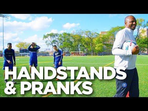 Handstand Battle & Patrick Vieira Prank   INSIDE TRAINING