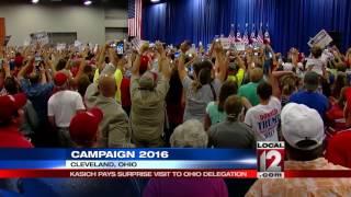 John Kasich surprises Ohio delegates at RNC