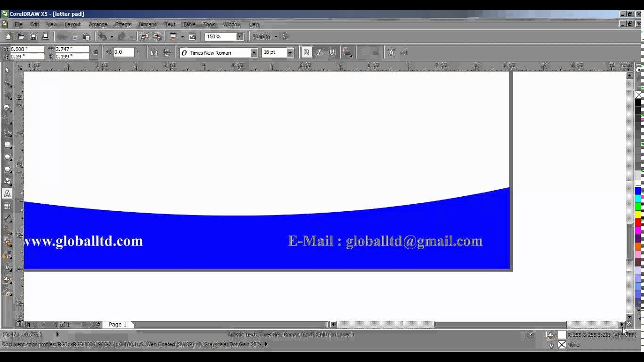 How to create letter pad design in coreldraw tamil part 3 youtube how to create letter pad design in coreldraw tamil part 3 spiritdancerdesigns Images
