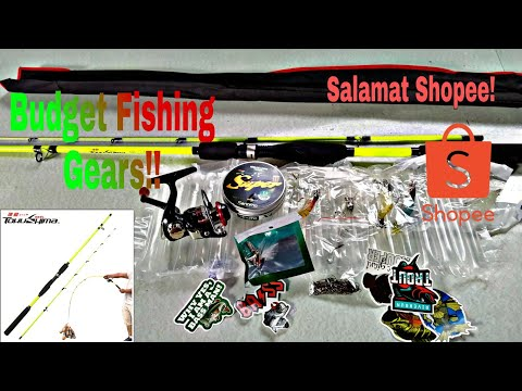 Shopee Fishing Gear / Tokushima Rod, Reel 500 Series, Lures, Line/ Budget Fishing Gear For Beginners