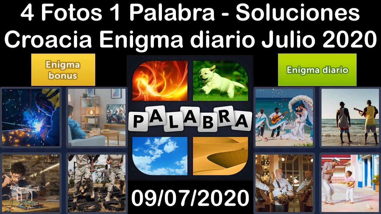 4 Fotos 1 Palabra - Croacia - 09/07/2020 - Julio 2020 - Enigma diario + Enigma bonus - Solucion