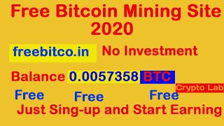 Free Bitcoin Earning site 100% payment proof 2020.No investment. Crypto Lab