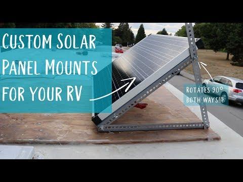 DIY custom solar panel mounts - 180° rotation!!