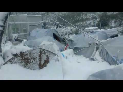 Europe's Warm Welcome!!!!! Moria camp Lesvos 07/01/2017