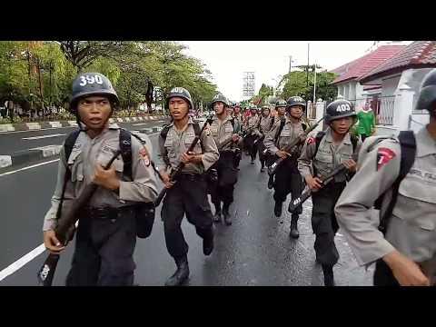 Ekspedisi Darat Siswa Diktuk Bintara Polri Gasum TA. 2017 Angkatan 42 SPN Polda Sulsel