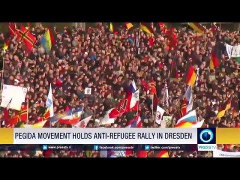 PEGIDA Movement Holds Anti-Refugee Rally In Dresden