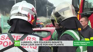 Incendie Lubrizol : des policiers inquiets pour leur santé portent plainte