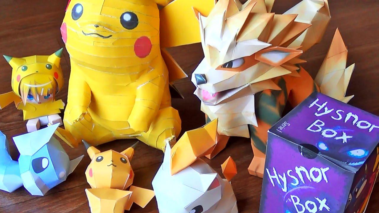Papercraft Réception d'un PRÉCIEUX COLIS Pokémon, très fragile ! PaperCrafts Pokémon Unique... Merci Hysnor