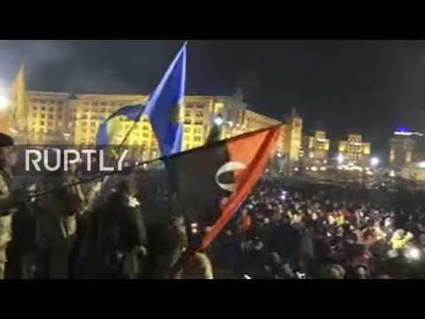 LIVE: Nationalist groups march in Kiev on Maidan's 3rd anniversary