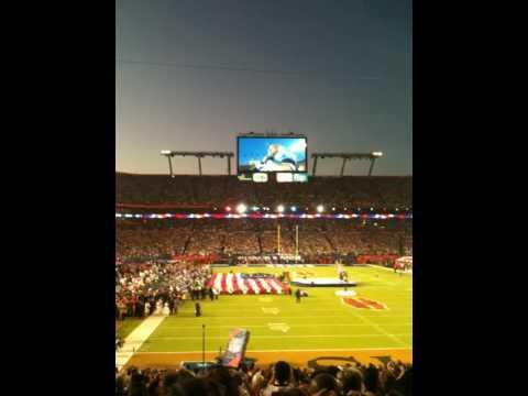 Super Bowl XLIV  National Anthem/Fly Over