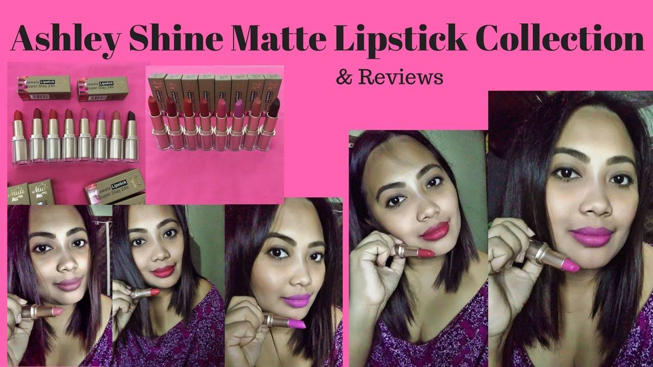 Ashley Shine Cosmetics Matte Lipstick Nude Edition Give Aways