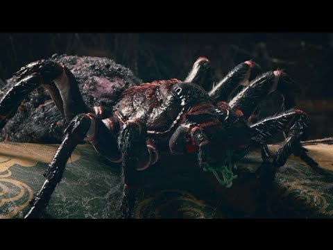 几分钟看李冰冰主演的中外合资科幻电影《谜巢》一种变异蜘蛛!领着一群小弟,生活在古墓,开始为所欲为