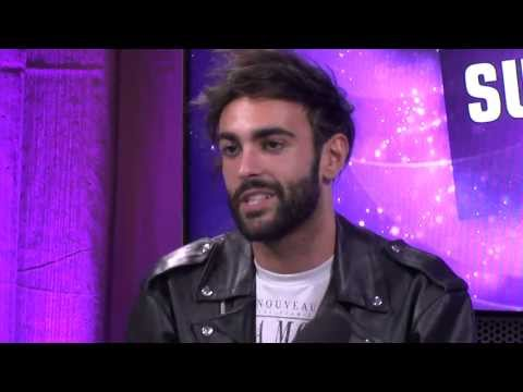 Marco Mengoni, representing Italy in Eurovision Song Contest 2013, are visiting the studio