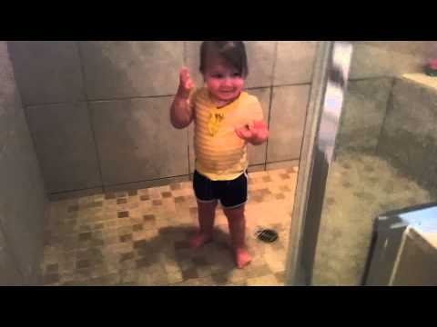 Fully clothed baby wants to shower
