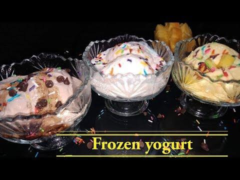 Frozen Yogurt |No Sugar Frozen Yogurt Recipe |How To Make Frozen Yogurt At Home