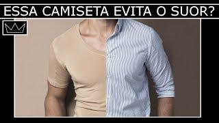 Testamos a undershirt que impede a PIZZA embaixo do braço  [ problema do suor corporal debaixo do braço resolvido ]