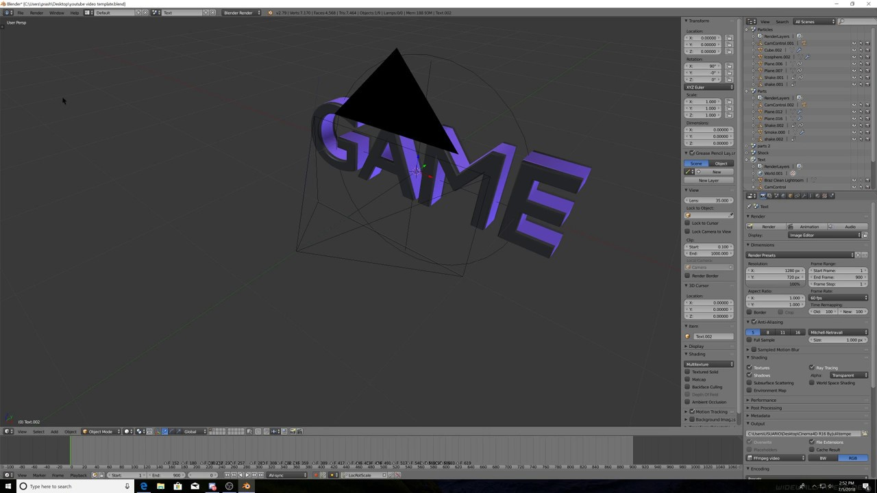How To Make Your Own Intro Completely Free In Blender Template