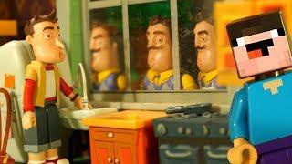 Лего ПРИВЕТ СОСЕД vs БАЛДИ - Лего НУБик Майнкрафт Мультики - LEGO Minecraft Мультфильмы