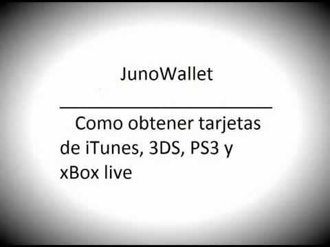 JunoWallet: Tarjetas iTunes, 3DS, PS3 y xBox live gratis ...