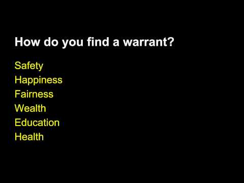 Argument Tutorial #3: Writing the Warrant