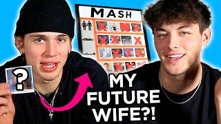 Addison Rae is my future wife?! Griffin Johnson and Vinnie Hacker play game of MASH! | AwesomenessTV
