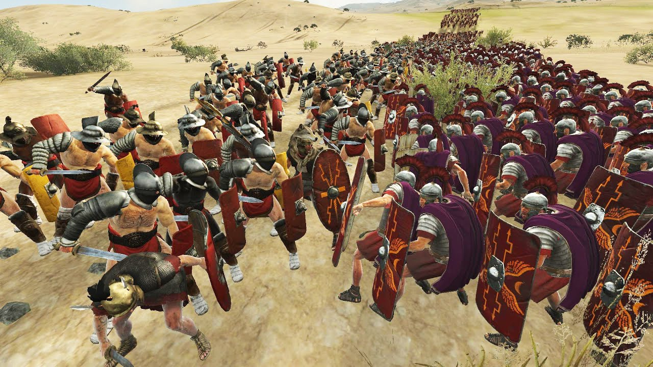 2000 ROME VS 2000 GLADIATOR - MASSIVE BATTLE TOTAL WAR ...