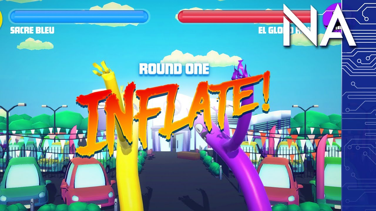 Wacky Waving Inflatable Arm Man Fighting Game!