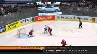 Slovenia vs Norway 1-3 2015-05-08 IIHF 2015 WC HIGHLIGHTS Swedish/Svenska