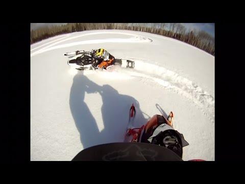 Snowmobiling Hudson Bay Saskatchewan 2015