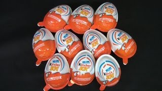 Repeat youtube video 10 x Kinder Joy - Monster Academy (Monster Uni) Unboxing