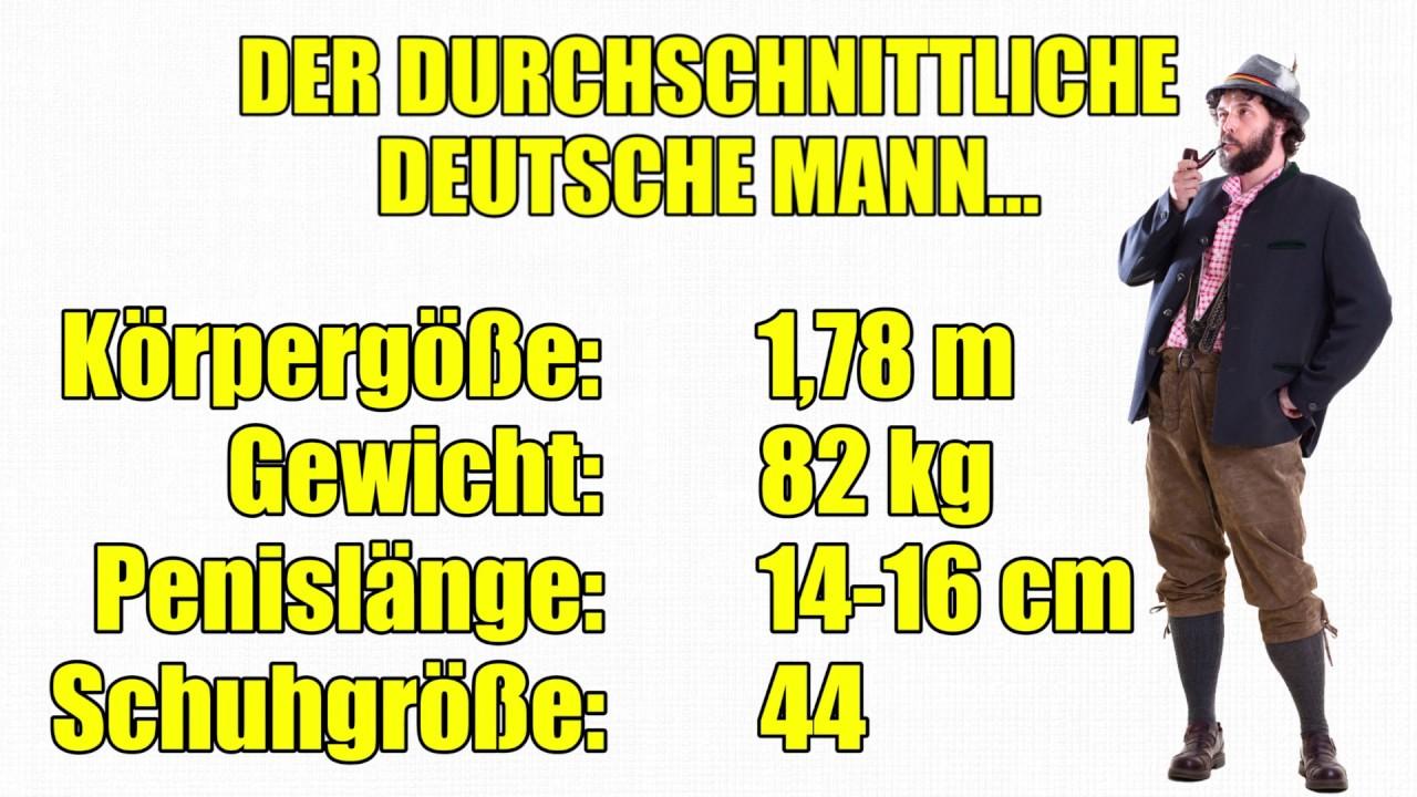 durchschnittliche schuhgröße männer