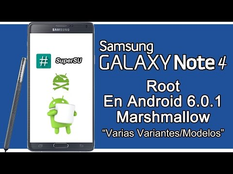 Root Samsung GALAXY Note 4 Android 6.0.1 Marshmallow