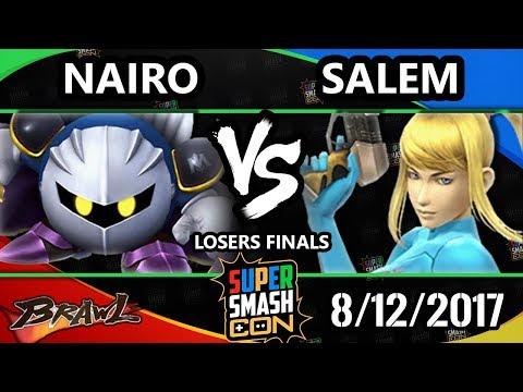 Smash Con 2017 Brawl - MVG   Salem (ZSS) Vs. NRG   Nairo (Metaknight) SSBB LF