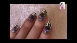 Видео уроки рисунков на ногтях