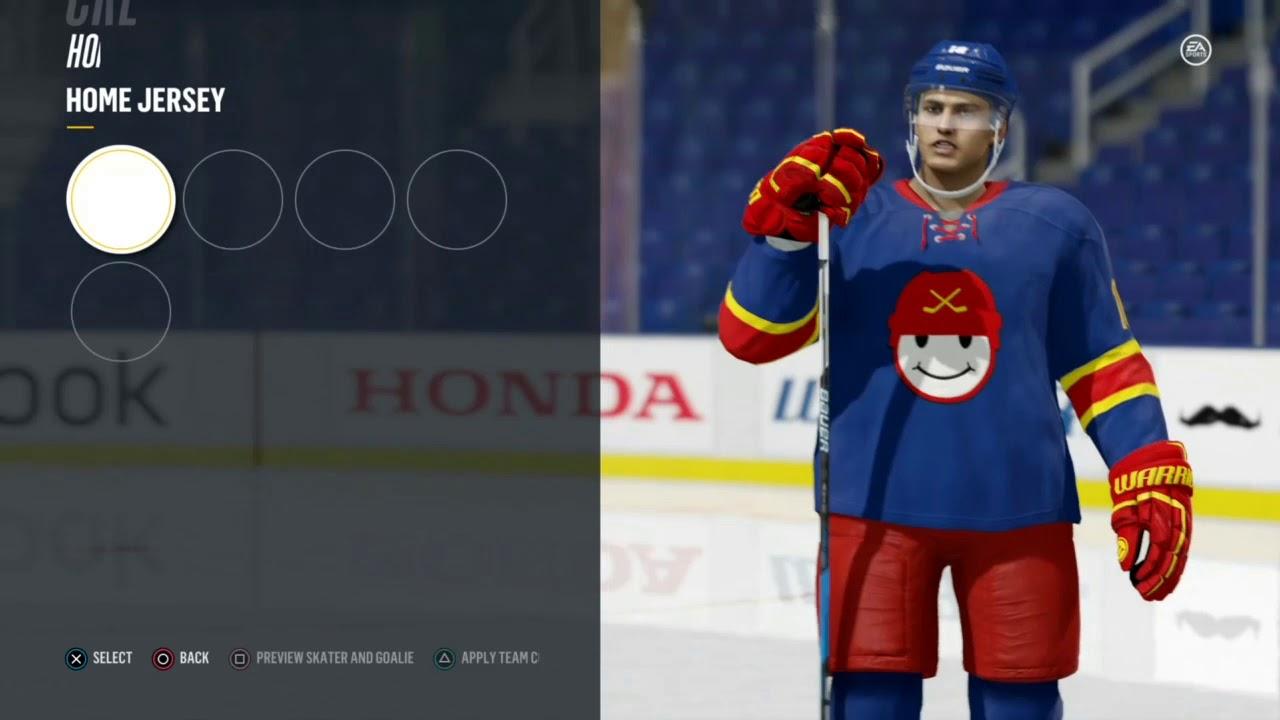 NHL 18 KHL Teams Jokerit Helsinki (jerseys update away jersey update)  Tutorial 9959b1773f2
