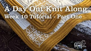 Week 10 | A Day Out Knit Along Blanket - Blocking knitted squares