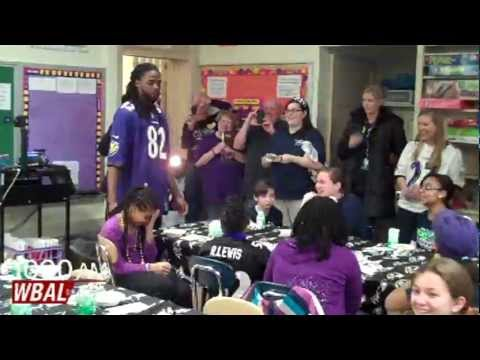 Torrey Smith At Chase Elementary School in Baltimore
