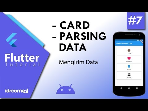 Tutorial Flutter #7 - Card & Parsing Data - YouTube