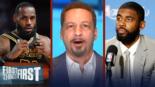 Chris Broussard reacts to Kyrie's disrespect of LeBron in comments of KD | NBA | FIRST THINGS FIRST