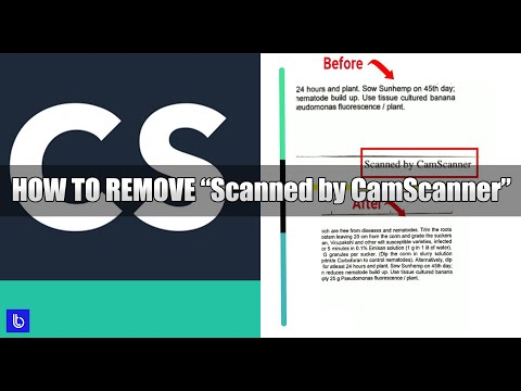 """How to Remove """"Scanned by camscanner """"watermark in PDF or JPEG File 